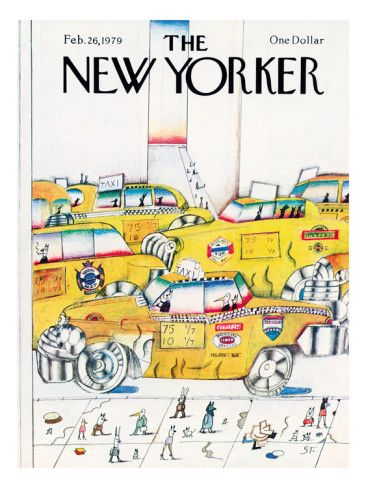 The New Yorker Cover - February 26, 1979 Poster Print  by Saul Steinberg at the Condé Nast Collection