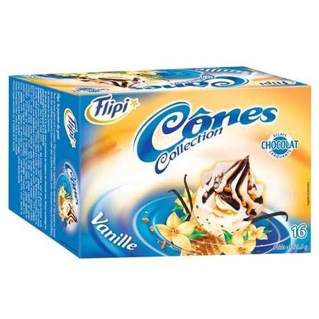 Cônes vanille x 16