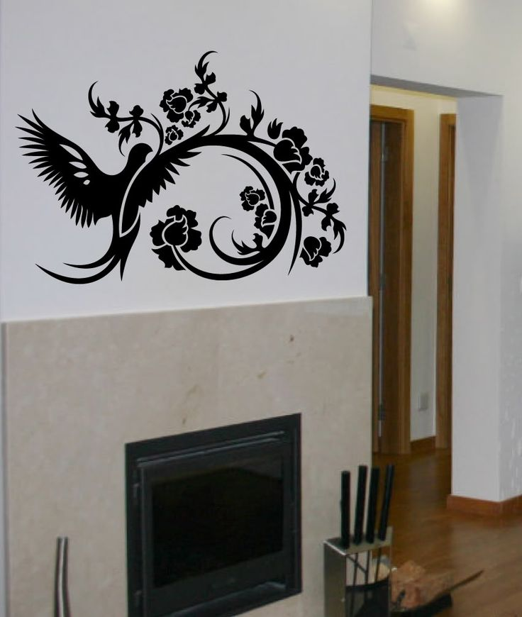 Best Plants Floral Wall Stickers Images On Pinterest Floral - Wall decals birdsbirds couple on branch wall decal beautiful bird vinyl sticker