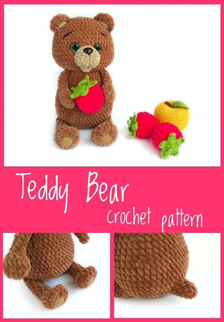 Free Amigurumi Bear Toy Softies Crochet Patterns | Crochet toys ... | 1059x736