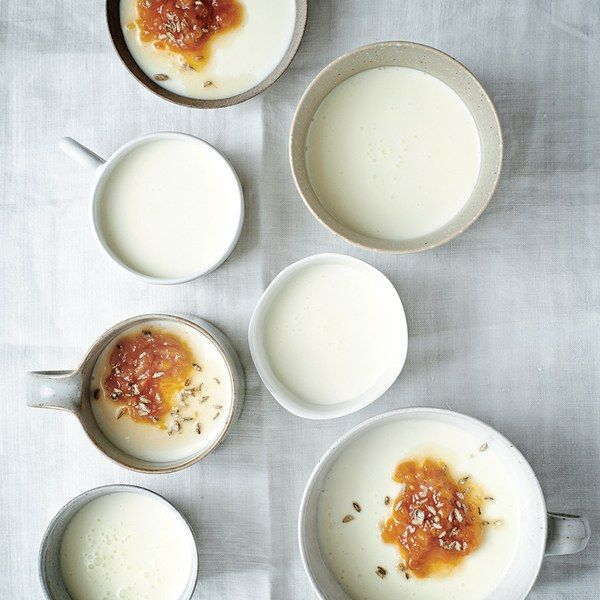 Buttermilk lightens the         traditional all-cream panna cotta base—without sacrificing lusciousness.