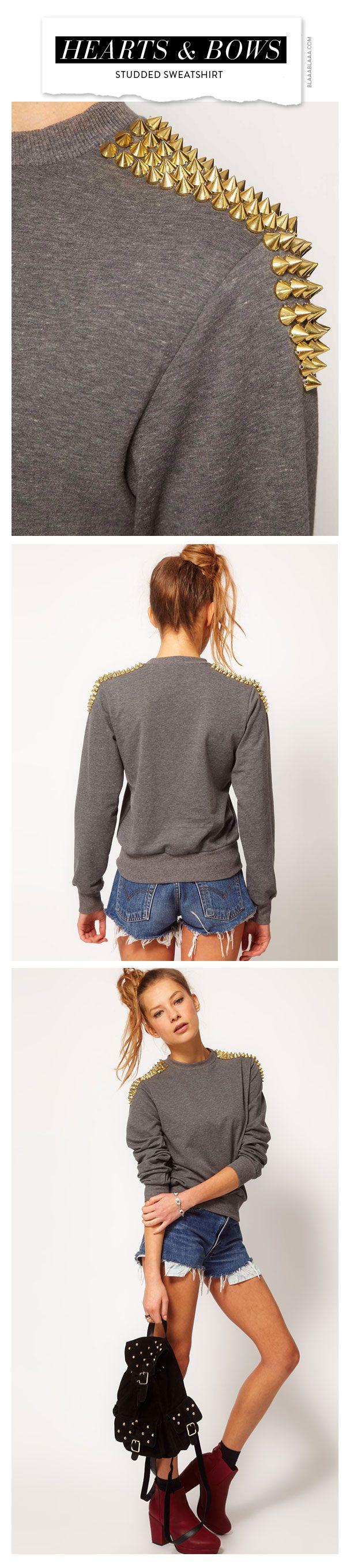 Hearts & Bows Sweatshirt mit Nieten