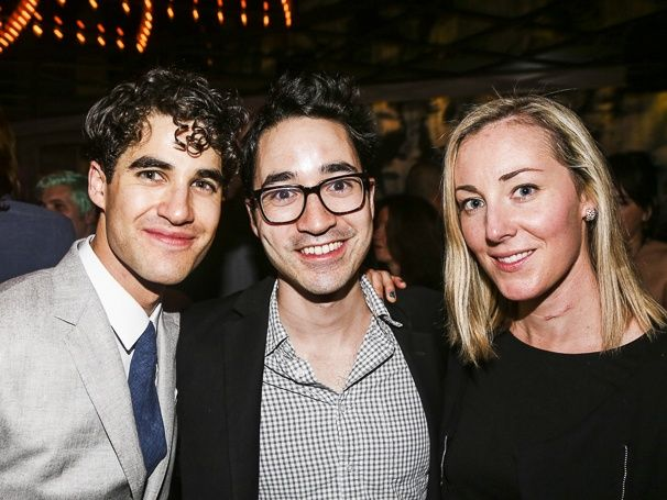 Photo 1 of 18 | Hedwig star Darren Criss rocks out at his first curtain call. | Exclusive Photos! Fans & Friends Welcome Darren Criss Back to Broadway in Hedwig and the Angry Inch | Broadway.com
