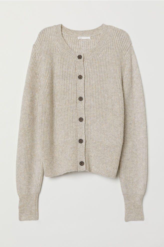 732c48b5 Rib-knit Cardigan | w a r d r o b e | Knit cardigan, Rib knit, Brown ...