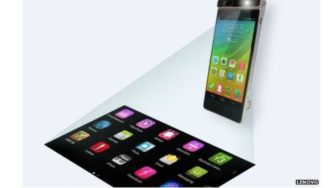 Lenovo phone features virtual keyboard - BBC Technology