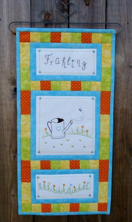 "Wandbehang ""Frühling"" Entwurf für das Patchwork Magazin"