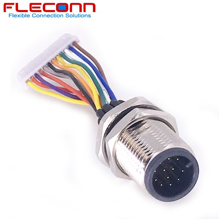 M12 12 Pin Male Connector To Molex 1 25mm Pitch Connector Wire Harness Wire Connectors Connector Connectors