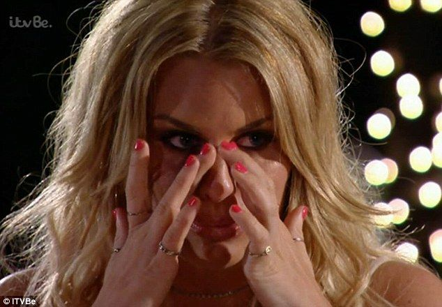 In tears: Danielle Armstrong was distraught by her boyfriend James 'Lockie' Lock's behaviour, ending their relationship on Sunday night's episode of The Only Way Is Marbs
