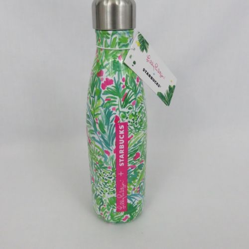 Lilly-Pulitzer-Starbucks-S-039-Well-Palm-Beach-Jungle-Swell-Ltd-Ed-Water-Bottle-NWT