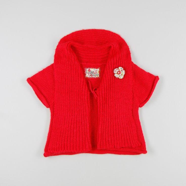 Chaqueta de punto con detalle de flor de color Rojo de marca Lisa Rose