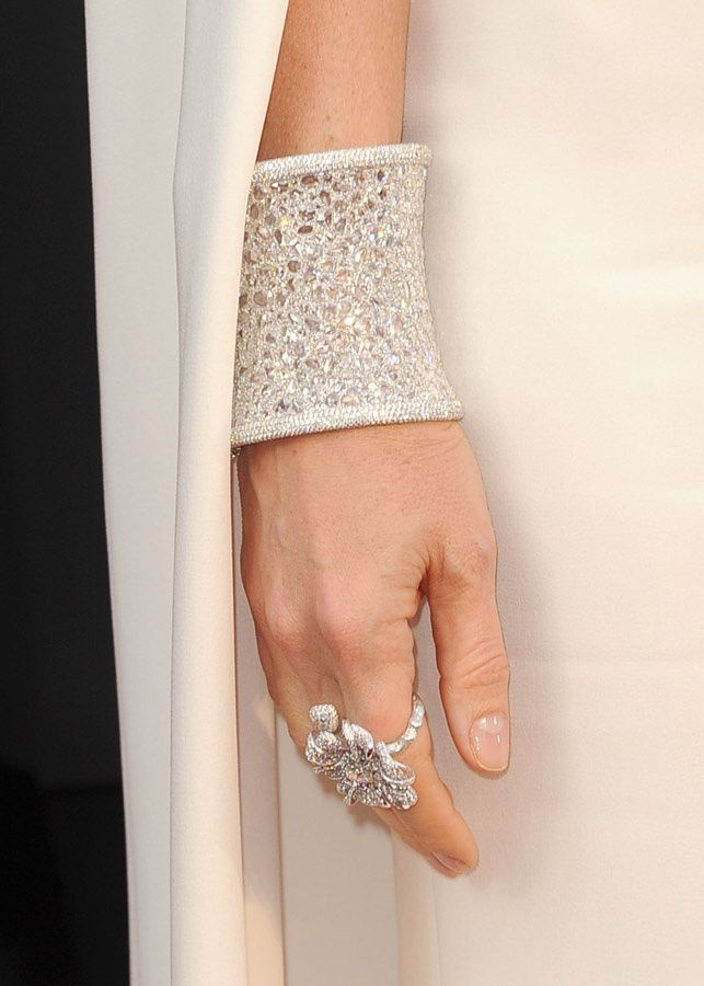 diamond cuff bracelet by Anna Hu {worn by Gwyneth}