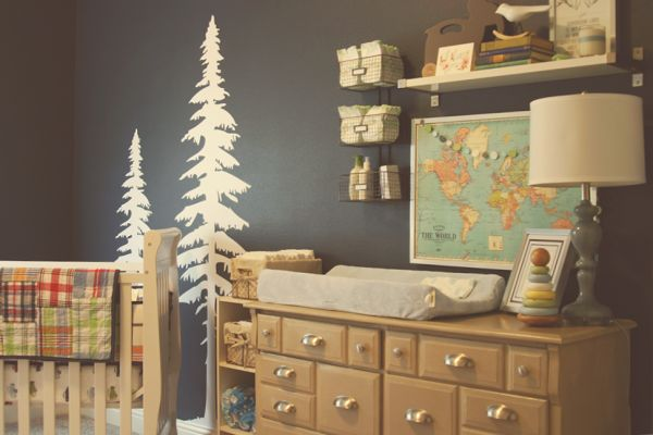 Seriously cute outdoorsy boy's nursery