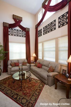 High ceiling window treatment crafty ideas pinterest High ceiling window treatments