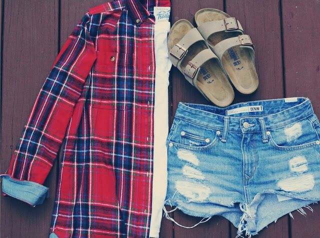 flannel + cutoffs