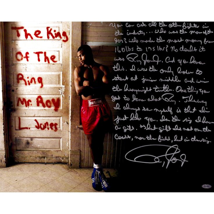 Roy Jones Jr Steiner Sports Autographed 16'' x 20'' Boxing Photograph with ''In Their Own Words'' Inscription - $639.99