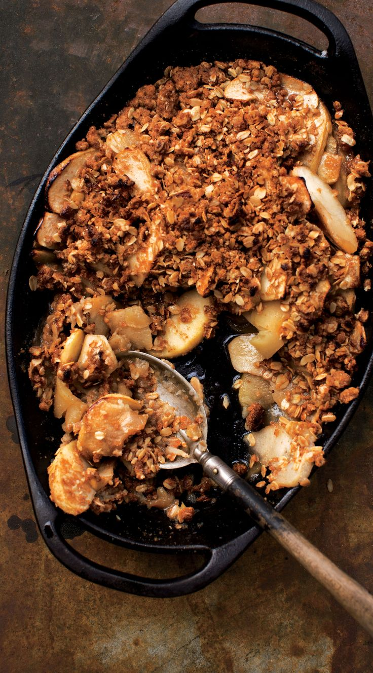 This apple crisp is dead-simple but delicious. (And it's got whole wheat crumble!)