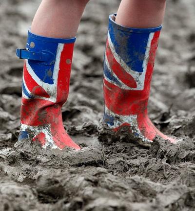 British Summer - Glastonbury - oh so true !