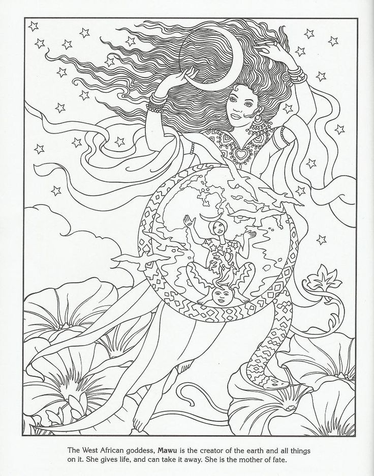 mawa west african goddess creator of the earth - Coloring Book Creator