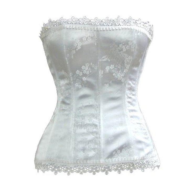 Blidece women strapless ivory bridal fashion corset for Wedding dress corset bra