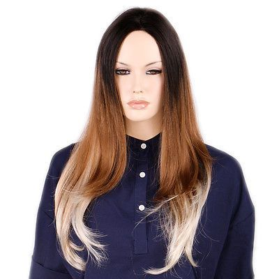 Queentas-Side-parting-Curly-Straight-Hair-Wigs-Ombre-Hairpieces-Synthetic-Nature