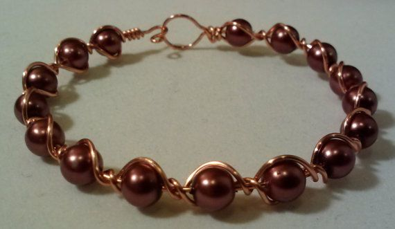 Handmade Copper Wire Wrapped Bangle by KimsSimpleTreasures on Etsy, $15.00