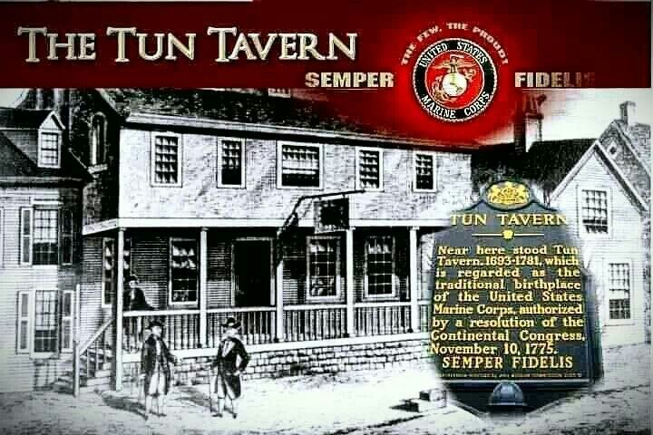 Tun Tavern. Birthplace of the Marines!: