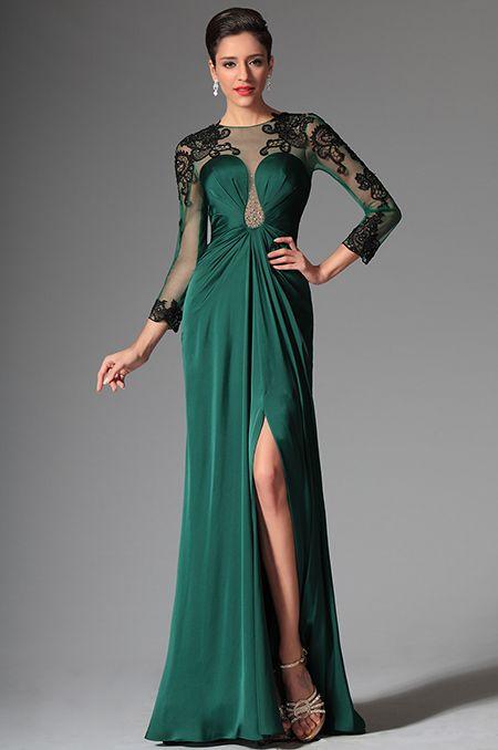 Зеленое вечернее платье 2015 для матери невесты