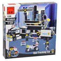 Конструктор классический Enlighten Brick Полиция 128 Полицейский фургон