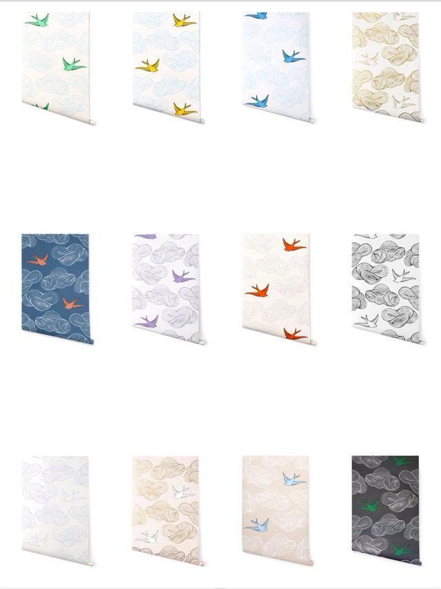Julia Rothman: Hygge and West: Wallpaper: Daydream (www.hyggeandwest.com/collections/wallpaper/julia-rothman+birds)