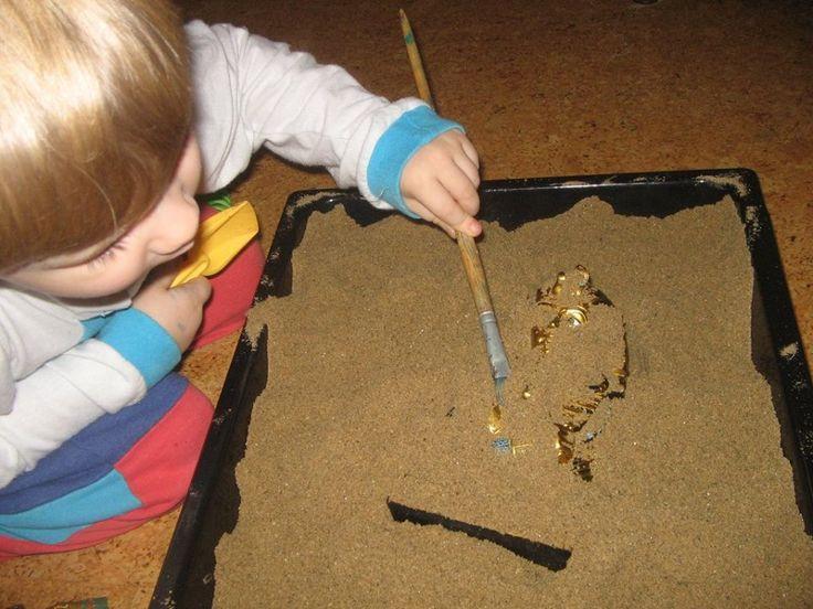 Afrika - starověký Egypt - sensory box - vykopávky