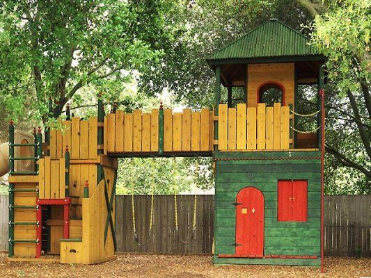 Wood Castle Playhouse Woodworking Projects Amp Plans