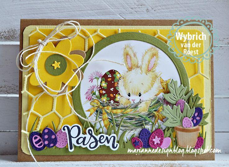 Op het knipvel Easter Bunnies staan leuke afbeeldingen met konijntjes. Voor mijn kaart heb ik een afbeelding gebruikt met een Easter Bunnie ...