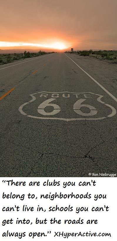I want to travel the entire length of Route 66, once to see it, and again to write about it.