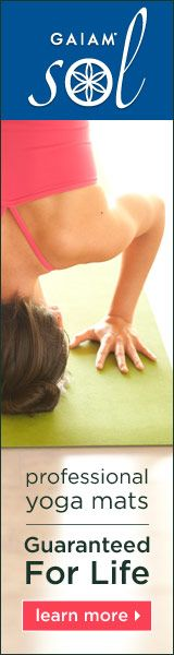 Click here to learn more about Gaiam Sol professional yoga mats >