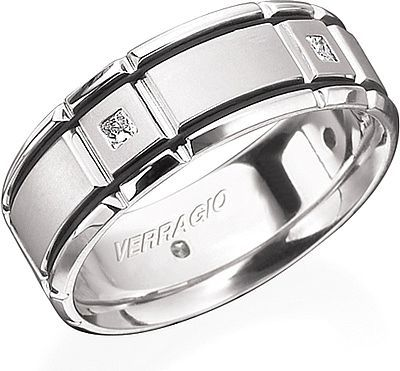 wedding rings with black enamel