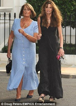 Annabel Goldsmith and her daughter Jemima Goldsmith Khan.