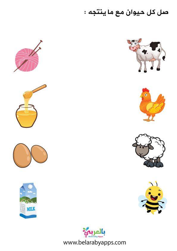 انشطة وتمارين ادراكية وحدة الغذاء العاب تعليمية للاطفال بالعربي نتعلم In 2021 Worksheets For Kids Character Kids