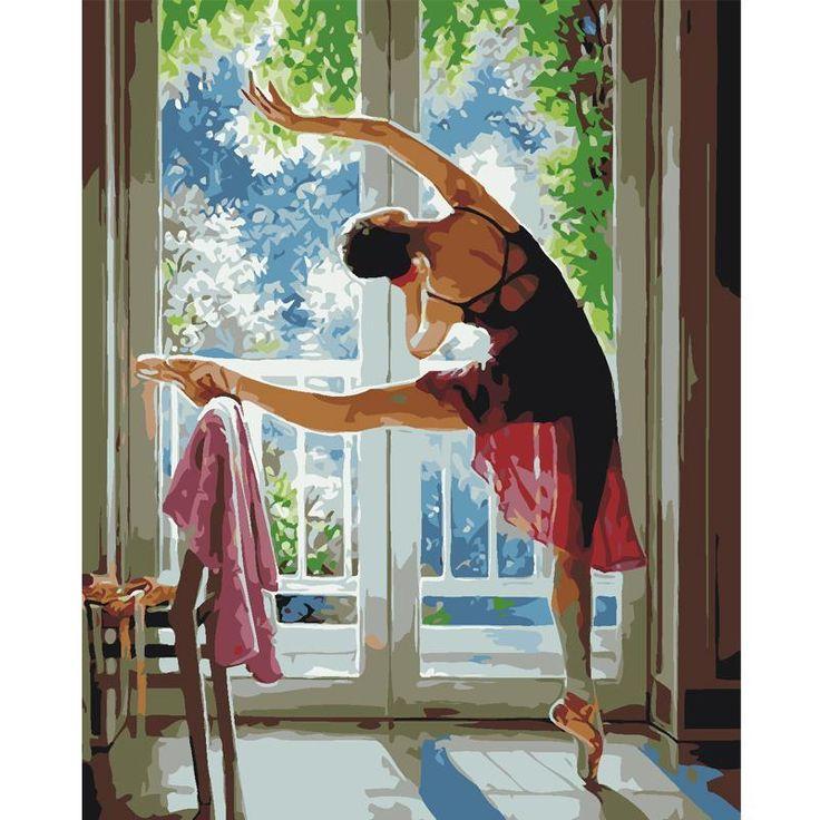 Ballerine Danseuse Ballet à photo Impression sur toile Art Mural Carré, 120cm wide x 120cm high