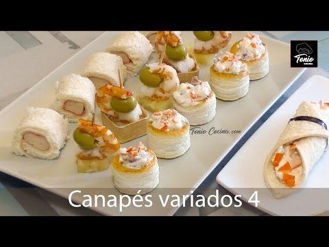 Canapés variados 4 | Aperitivos fáciles y ricos | Receta fácil paso a paso - YouTube