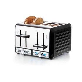 4-Slice Stainless Steel Pattern Toaster