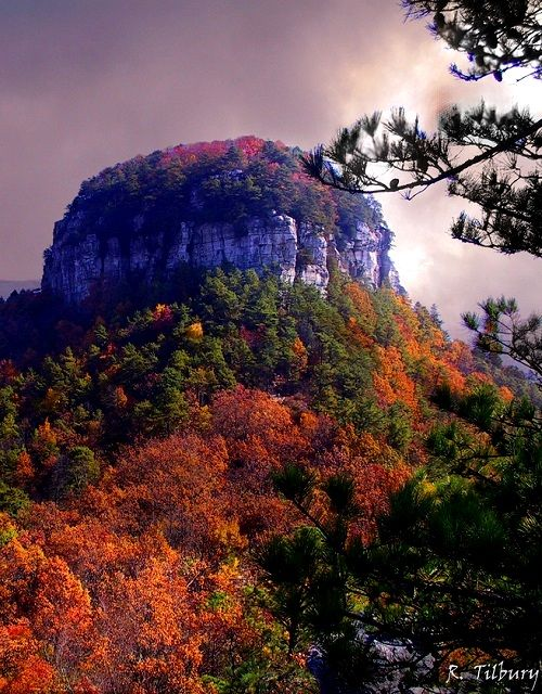 Pilot Mountain, North Carolina, U.S   by Raw Light Photography