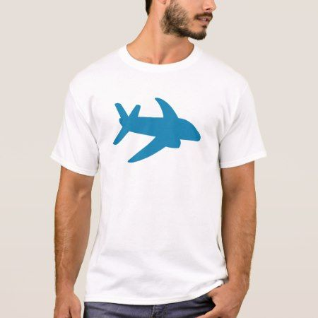 Airplaine Silhoutte Classic T-Shirt - tap to personalize and get yours