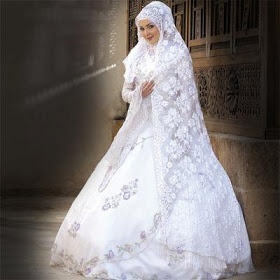 Wedding Lights: new collection of hijab wedding dresses 2011