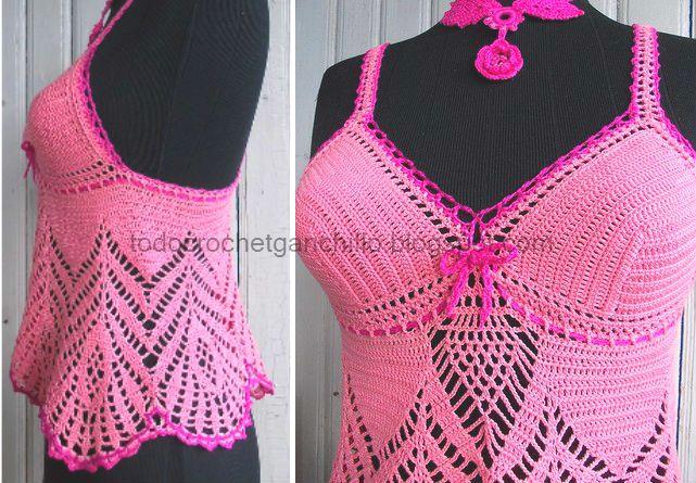 Solero Top Crochet / Patrones y paso a paso   Todo crochet