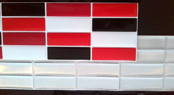 Cenefa acero y rojo fen cenefas autoadhesivas para - Cenefa para banos ...
