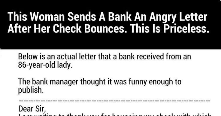 Bank Bounces This Woman's Check, So She Sends Them An Angry Letter. What She Says Is Perfect.