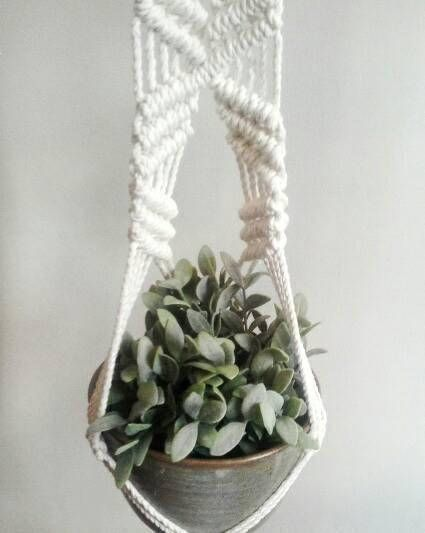 Check out this item in my Etsy shop https://www.etsy.com/au/listing/543261940/half-hitch-sling-macrame-plant-hanger