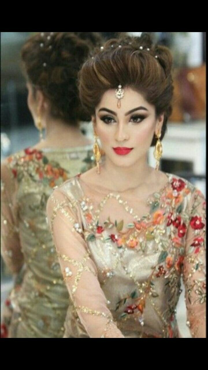 indian wedding hairstyle gallery%0A Reception hair  u     Makeup