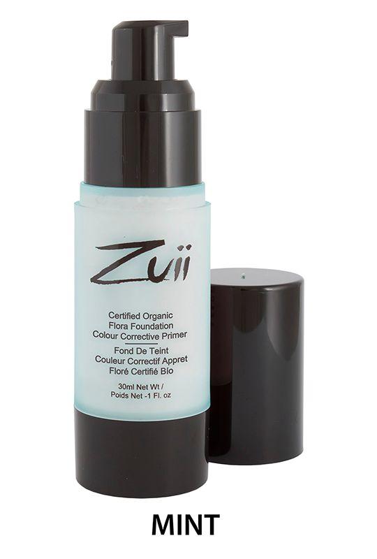 Zuii Organic - Naturalna baza pod makijaż - Mint [Miętowa]. Tonuje zaczerwienienia Organiczna uniwersalna baza pod makijaż to mieszanka odżywczych składników, które chronią i nawilżają skórę, przygotowując ją na przyjęcie podkładu.