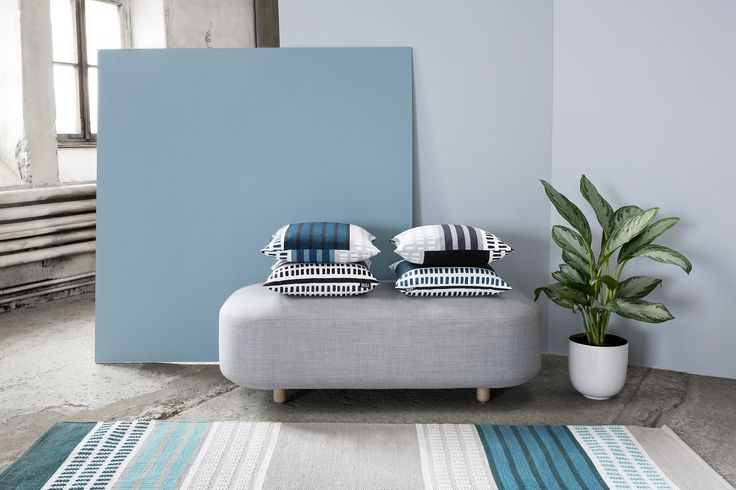 Pallas cushions and rug by Riina Kuikka
